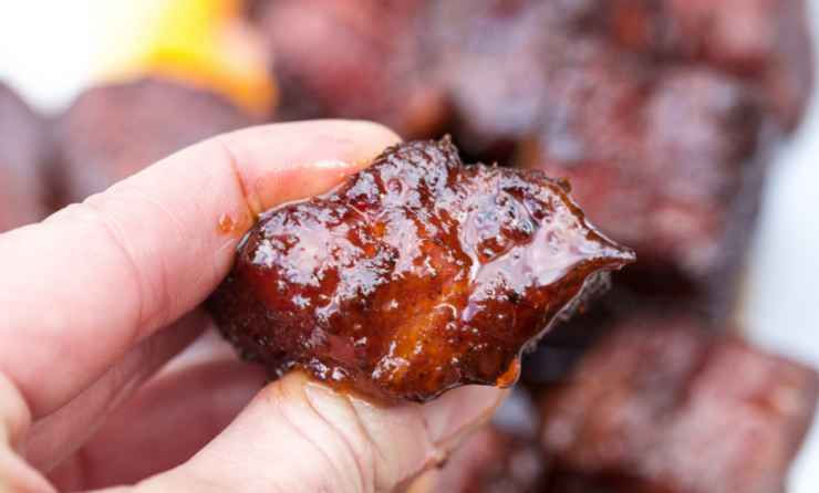Smoked Pork Belly Burnt Ends
